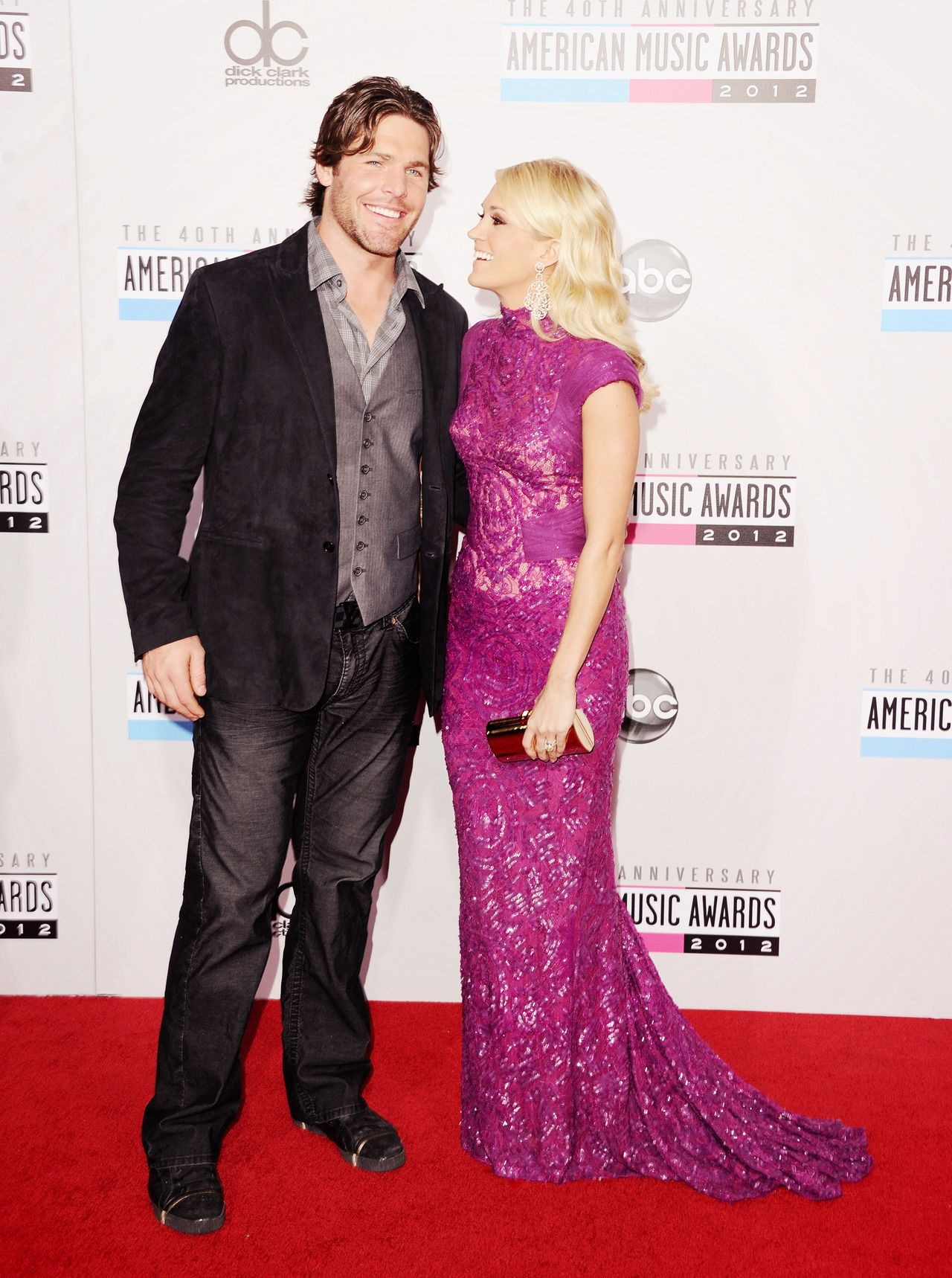 Carrie Underwood & Mike Fisher at the American Music Awards (AMAs ...