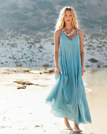 e6ca564d11 Cotton-Gauze Long Dress Love this dress! Great for the beach!