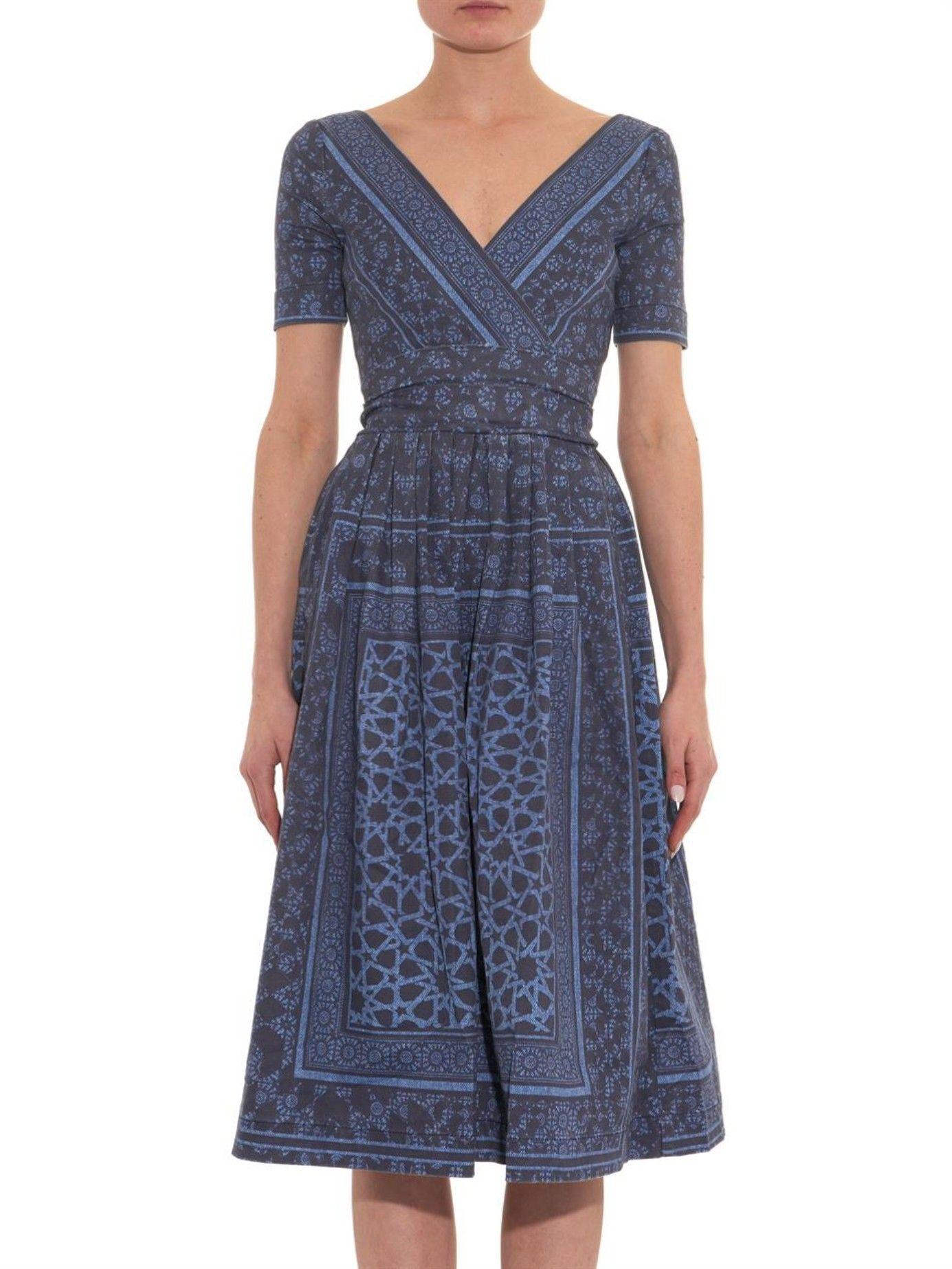 a92917f796 Saira open-back printed denim dress