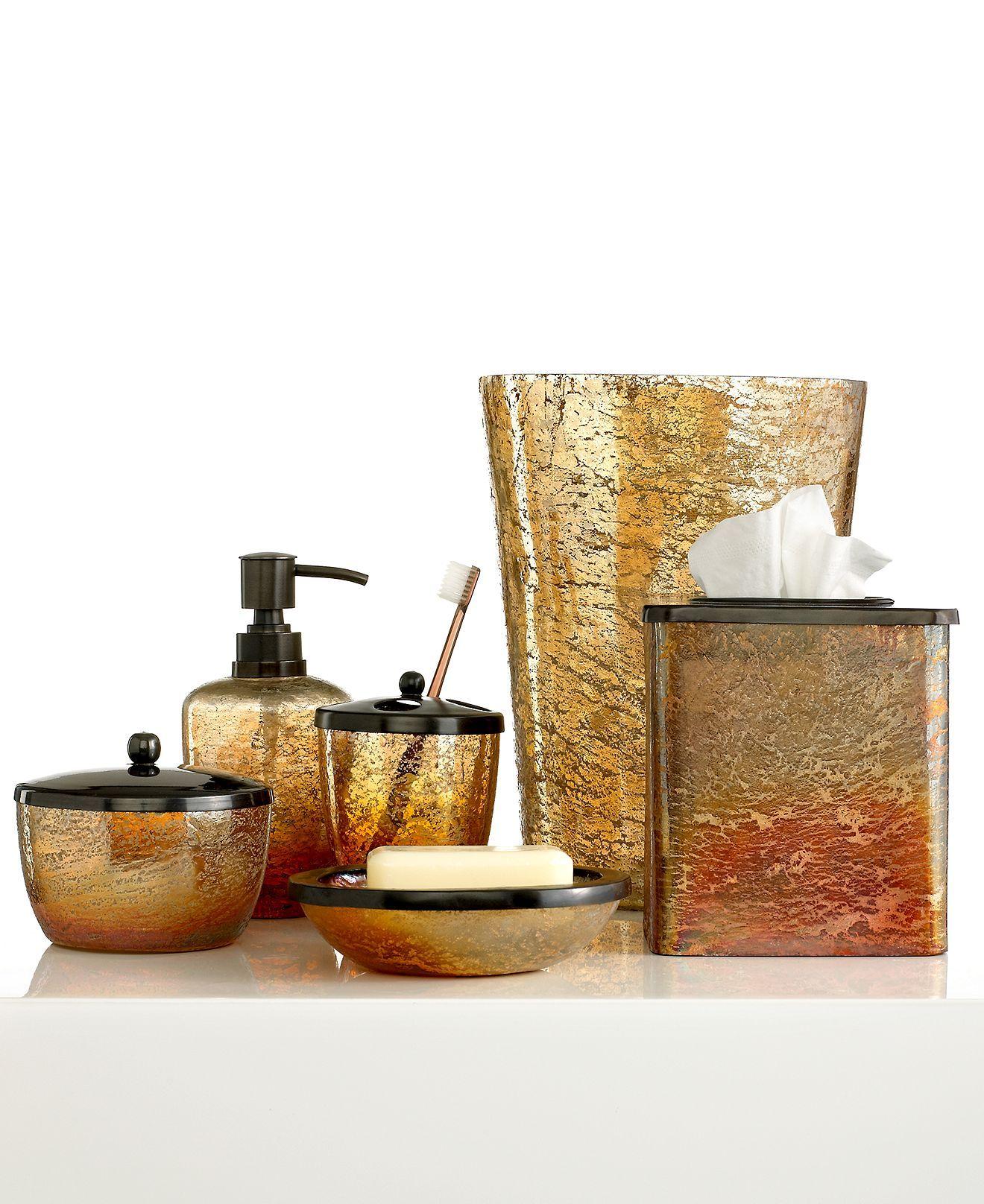 Paradigm Bath Accessories Lava Trash Can Bathroom Bed Macy S Decor