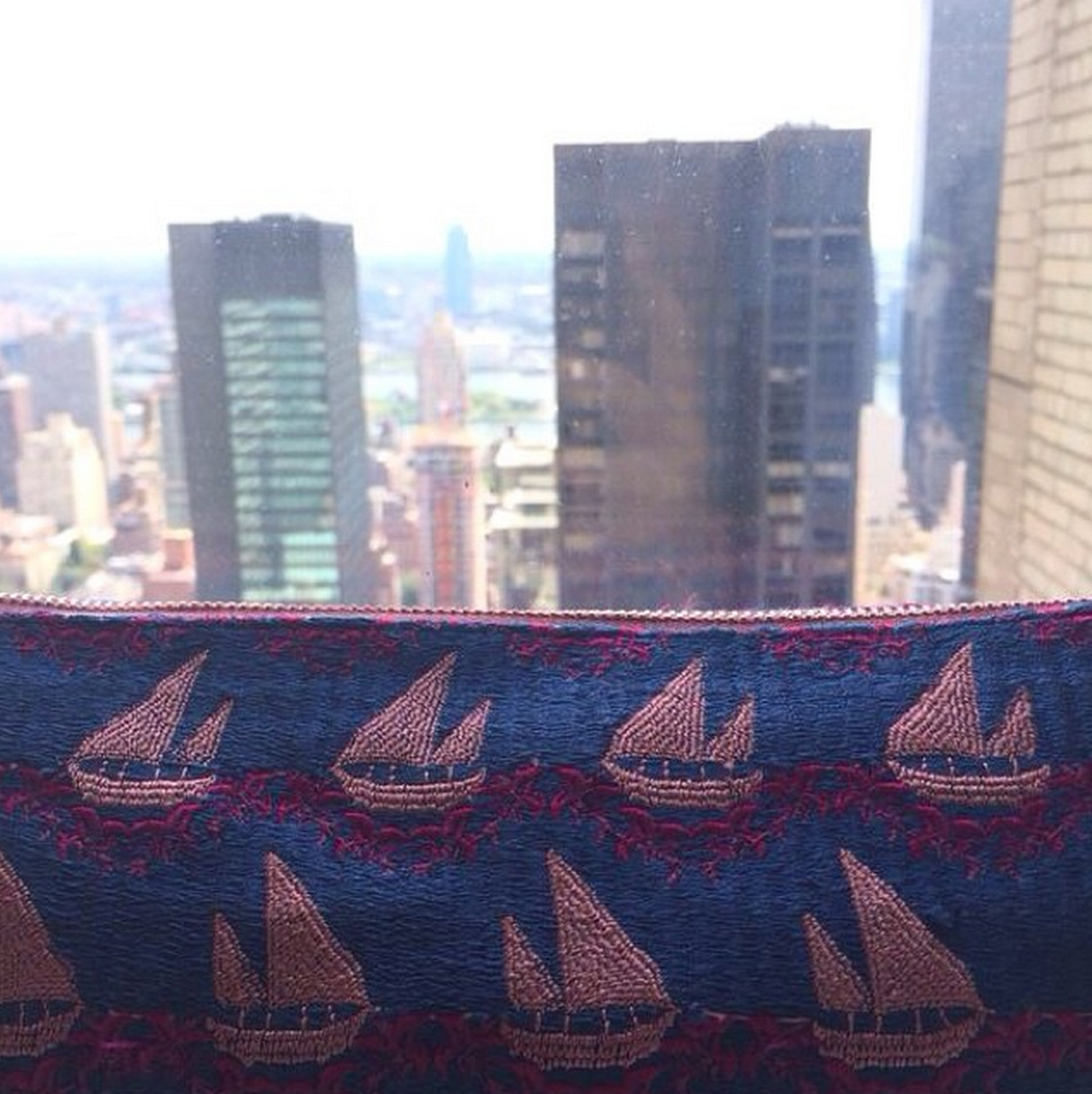 Our Dhow Print Has Landed In Nyc Ecru Dhow Kuwait Embroidery
