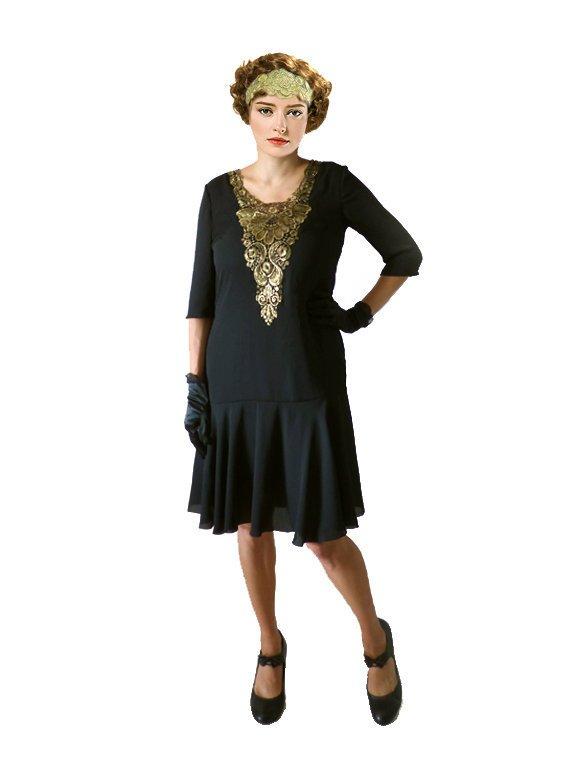 d6fe85664737c 1920s Dress, Flapper Dress, Great Gatsby Dress, Black Flapper Dress, 20s  Dress, Roaring 20s Dress, D