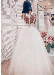 designer brautkleider mit spitze  prinzessin hochzeitskleider online modellnummer xy748  lace