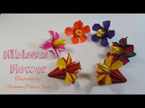 Origami hibiscus flower hoa dm bt tutorials by origami hibiscus flower hoa dm bt tutorials by origamipapercraft youtube mightylinksfo