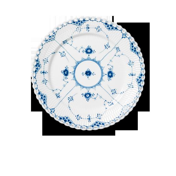 Blue Fluted, full lace - porcelain dinner service from Royal Copenhagen, Denmark. Production start: 1888.