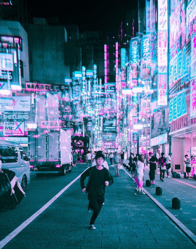 steve roe's vaporwave aesthetic captures a cyberpunk ...