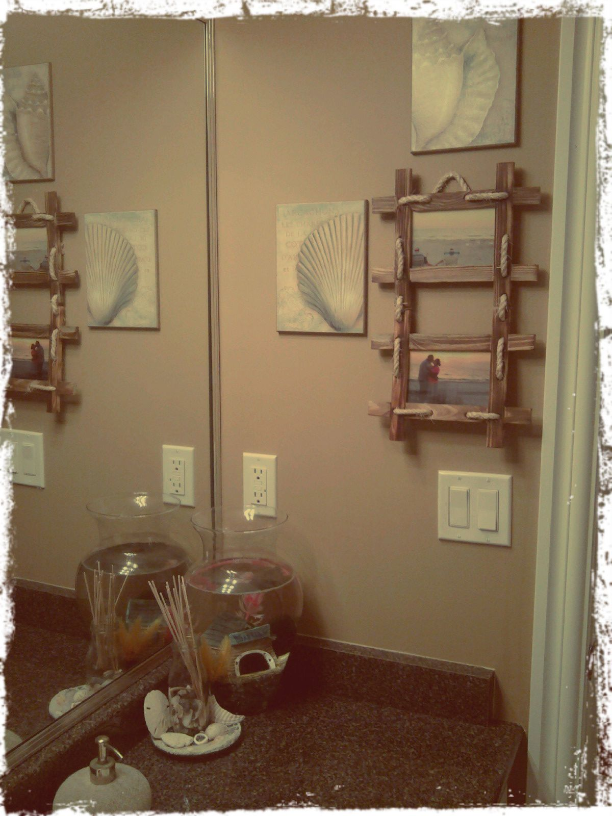 Home Goods Bathroom Wall Decor: Beach Bathroom Think This Is The Color I Want My Walls In