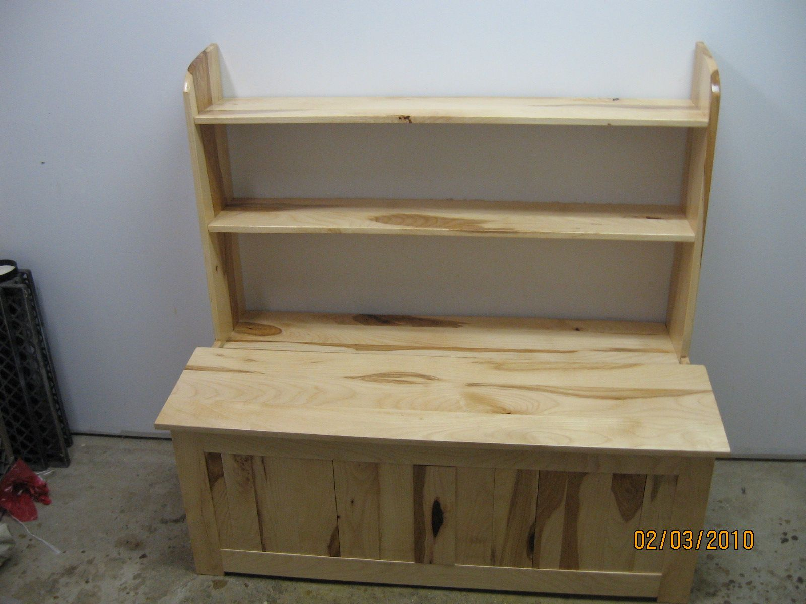 Toy Box With Bookshelf Hickory Toy Box With Torsion