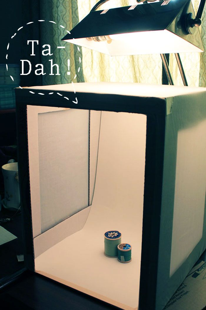DIY - How to make a light box for photographing objects. Inexpensive household items (cardboard box) and craft store items (poster board, muslin) + a single ...