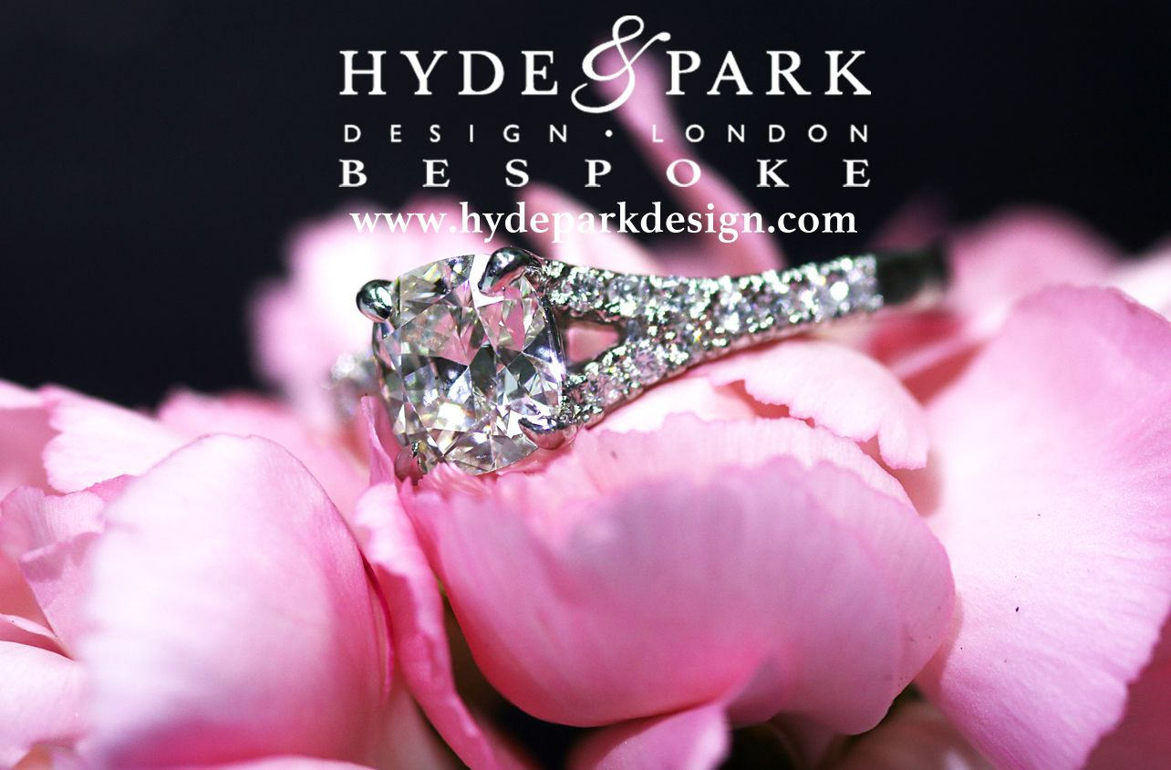 The beauty of a cushion cut diamond engagement ring, set with ...