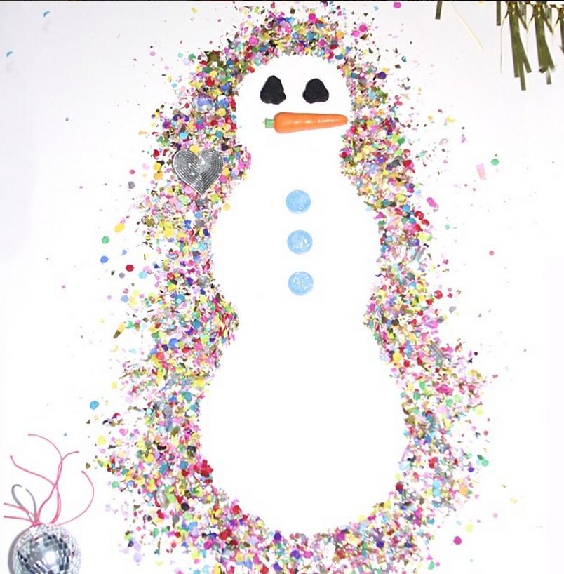 """Résultat de recherche d'images pour """"snowman confettis"""""""