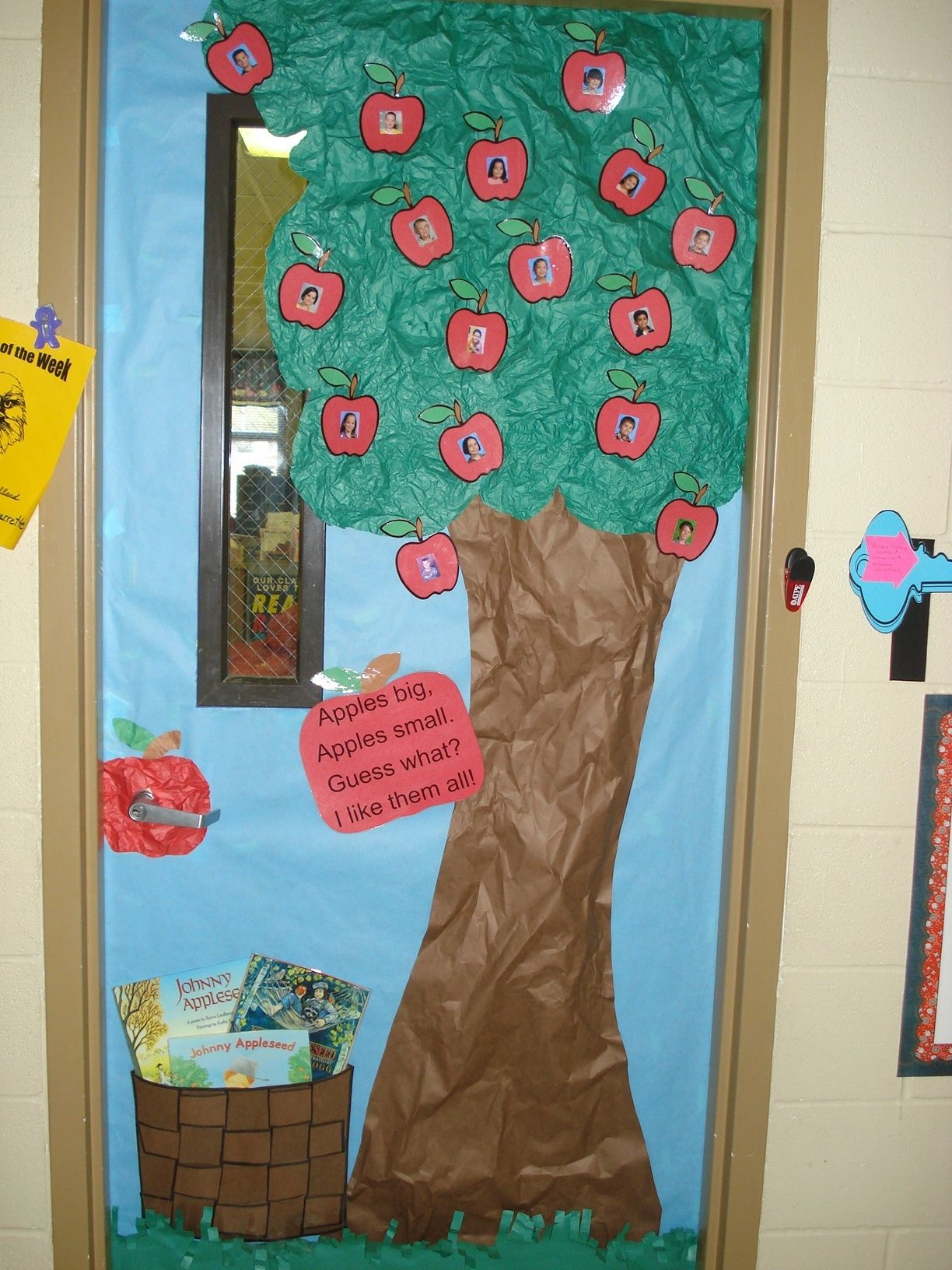 2nd Grade Classroom Door During Johnny Appleseed Unit The