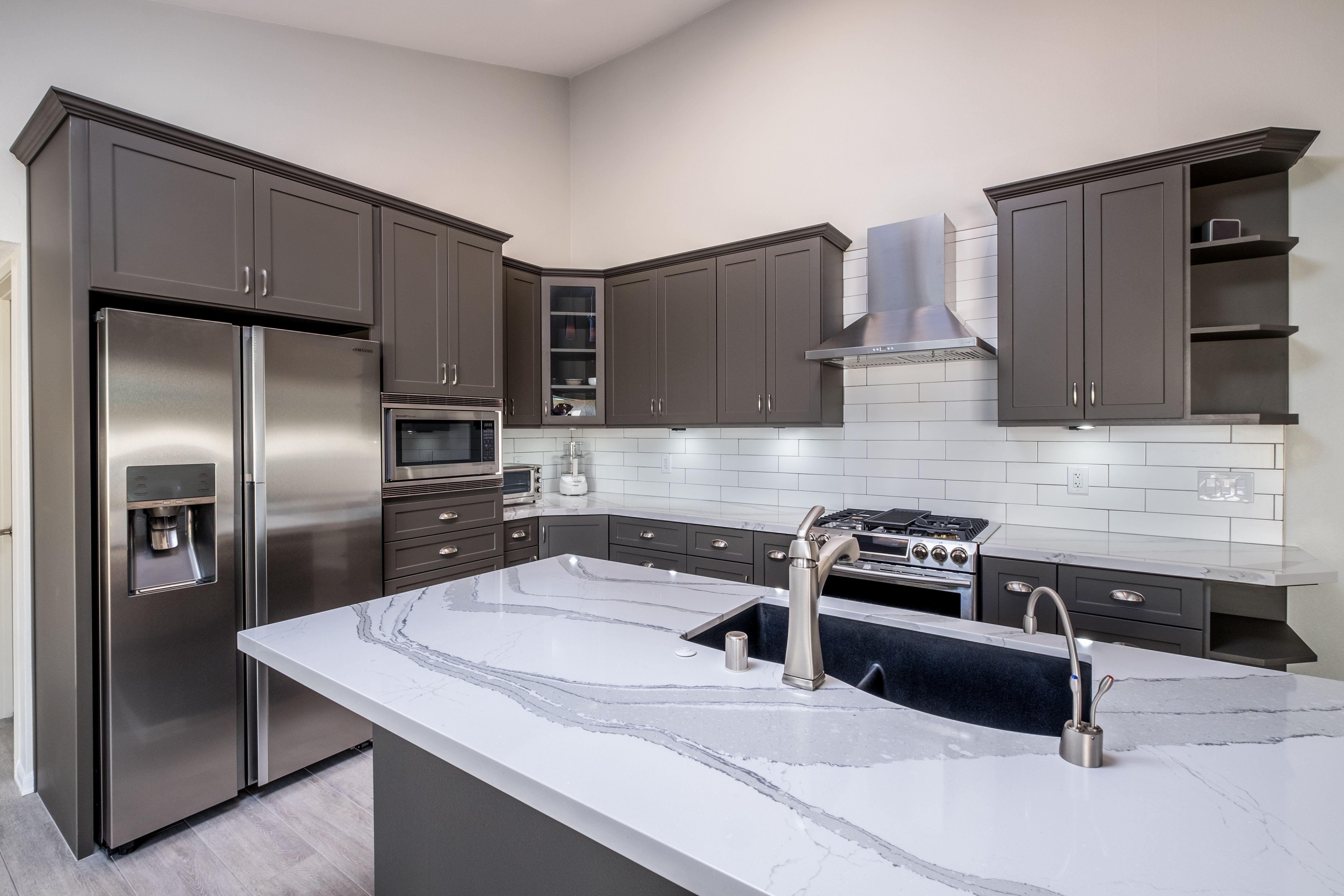 About Modern Kitchen Design Dark Grey Kitchen Cabinets Modern