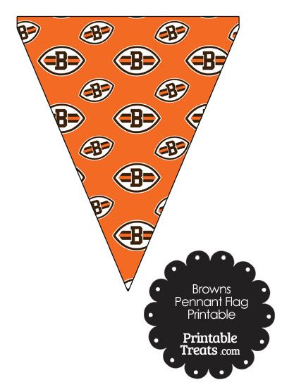 Cleveland Browns Logo Pennant Banners from PrintableTreats