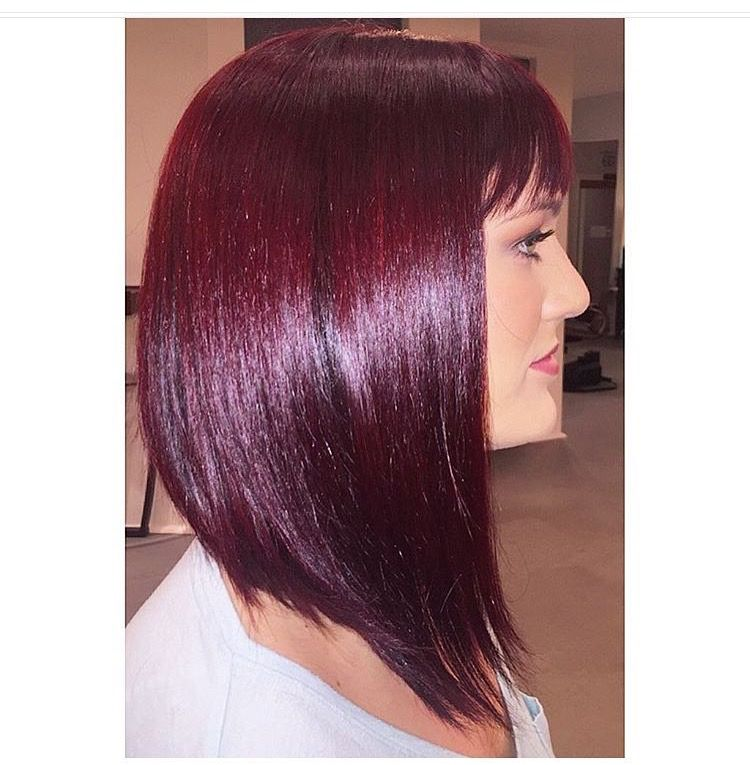 Gorgeous Wella violet red color! Colors used: Wella 3/68 & 44/64