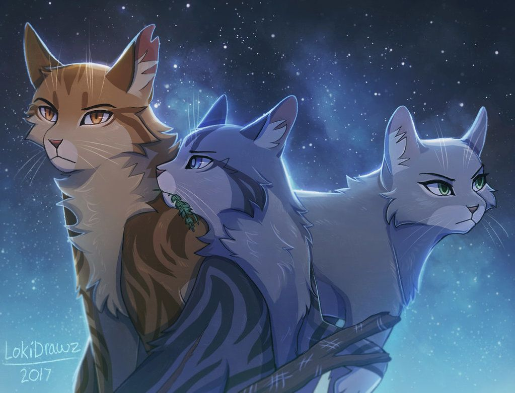 The Three Lionblaze Jayfeather And Dovewing By Lokidrawz