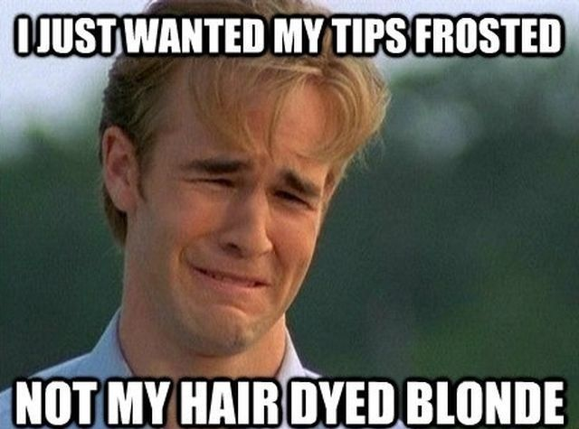 ohh how i miss the frosted tips!!! LMAO