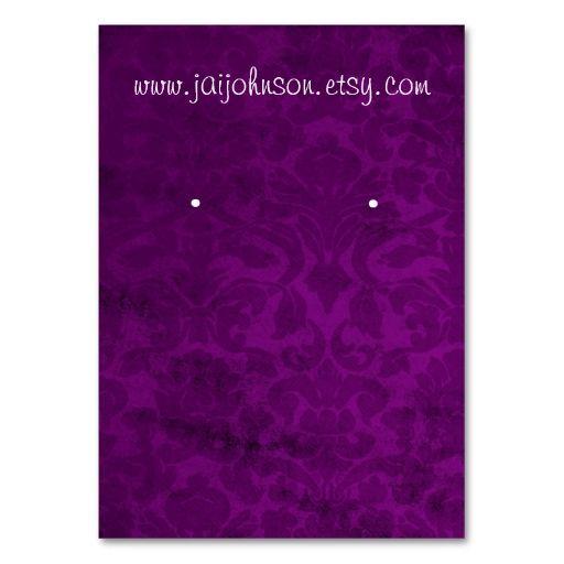 Purple Vintage Background Earring Cards