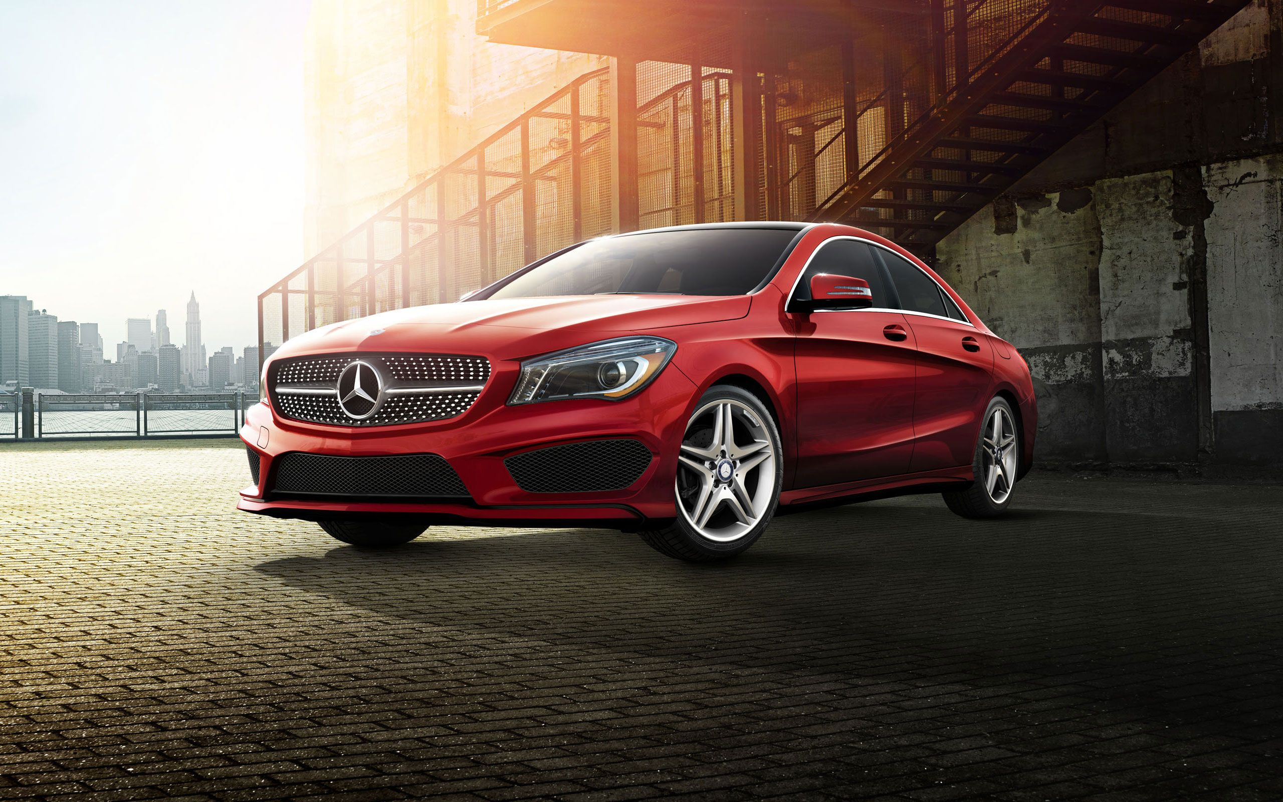 Mercedes Benz Cla250 In Designo Patagonia Red With The Available