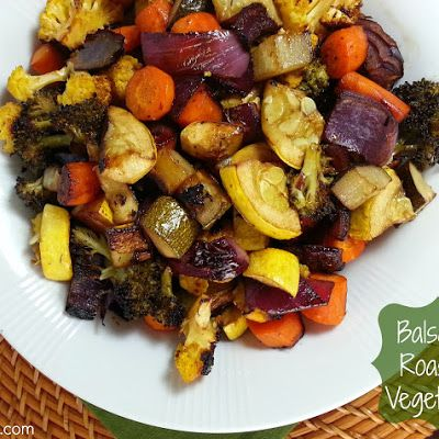 Balsamic Roasted Vegetables -- Weight Watchers 2 PointsPlus (I'd sub something else for the yellow squash....maybe asparagus? )