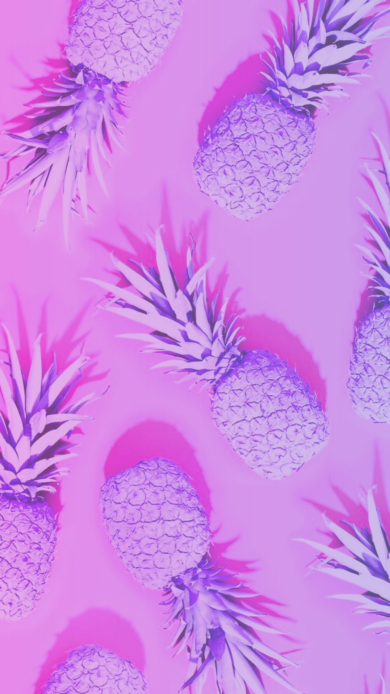 Pink purple wallpaper background hd cute colorful pineapple