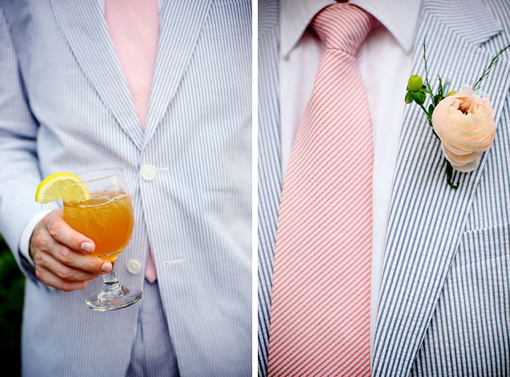 How about this instead of a pink shirt? Crisp white shirt, pink tie ...