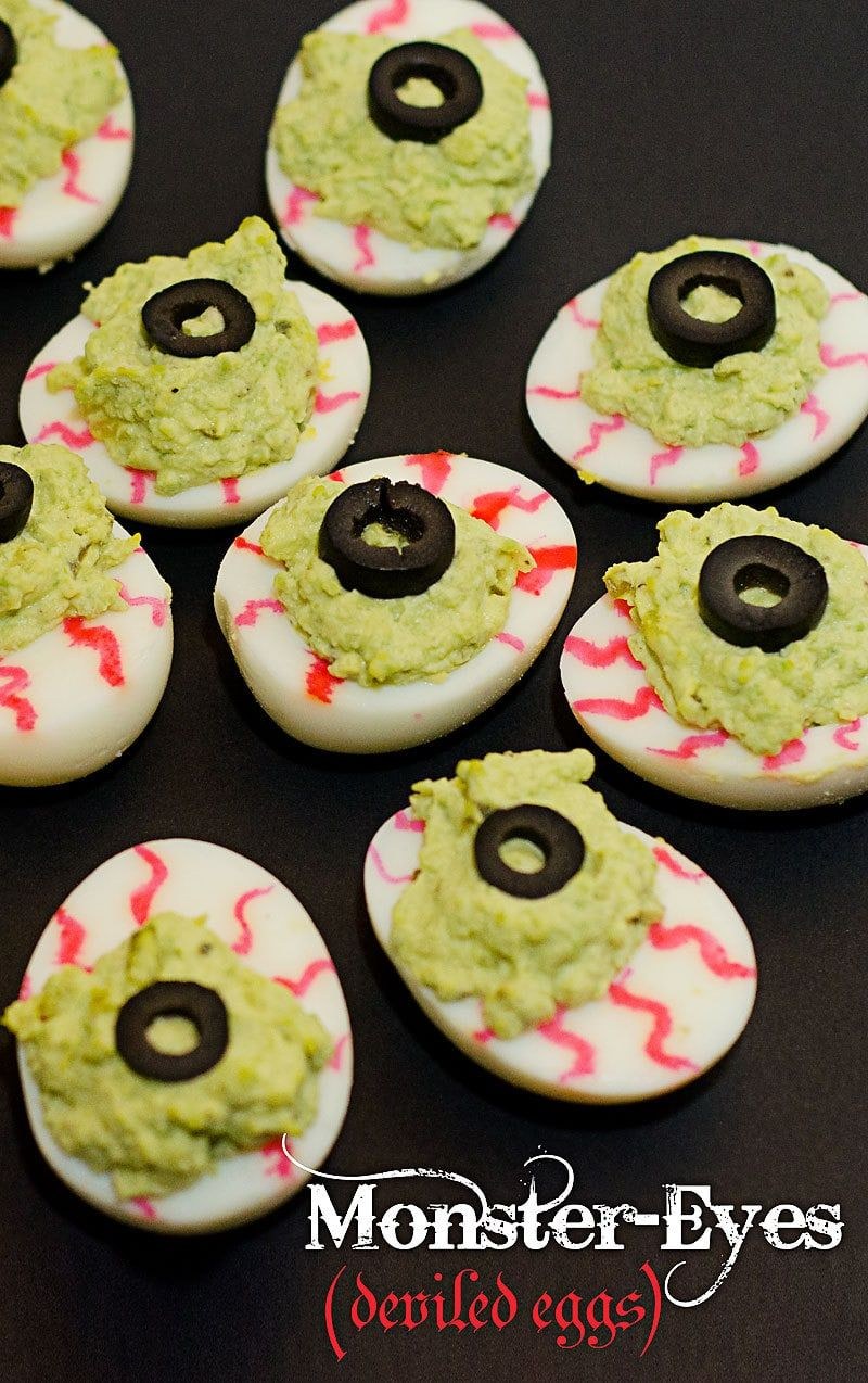 Spooky Monster Eyes Deviled Eggs The Perfect Halloween Deviled