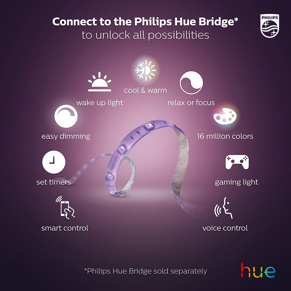 How To Use Led Strips Where To Place Indoor And Outdoor Strip Lighting Philips Hue Hue Philips Philips Hue Bridge Philips Hue Lights