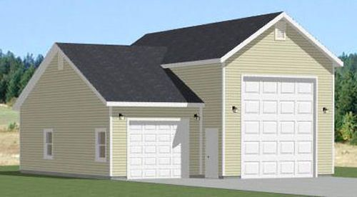 32x40 1 RV 1 Car Garage PDF Floor Plan 1197 sq ft Model 2 – 32X40 Garage Plans
