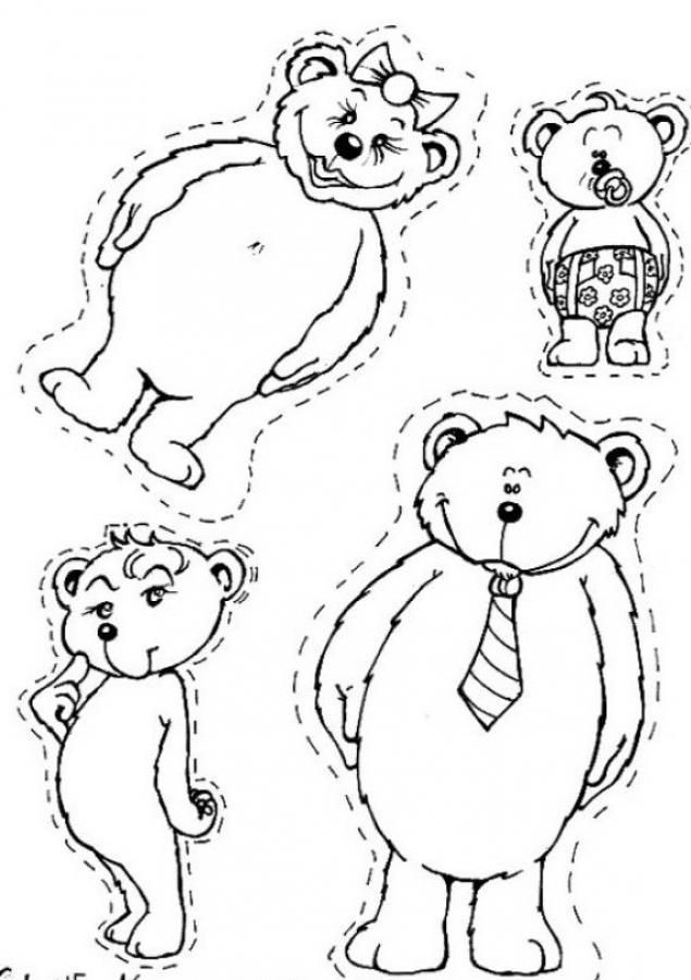 Bear family coloring page Family Theme Pinterest Bears