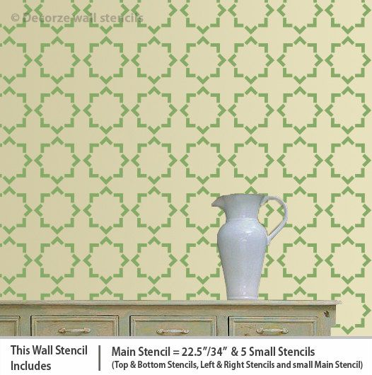 Homemade wall stencil design Geometric wall stencil by DecorZe ...