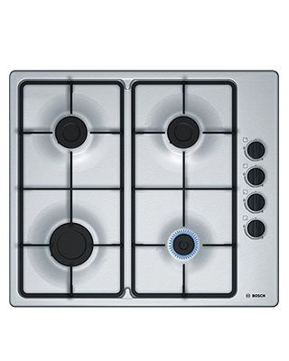This brand new gas hob is finished in brushed steel and has ...