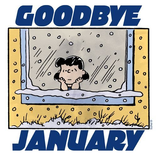 Goodbye January quotes quote trees snow months peanuts january ...