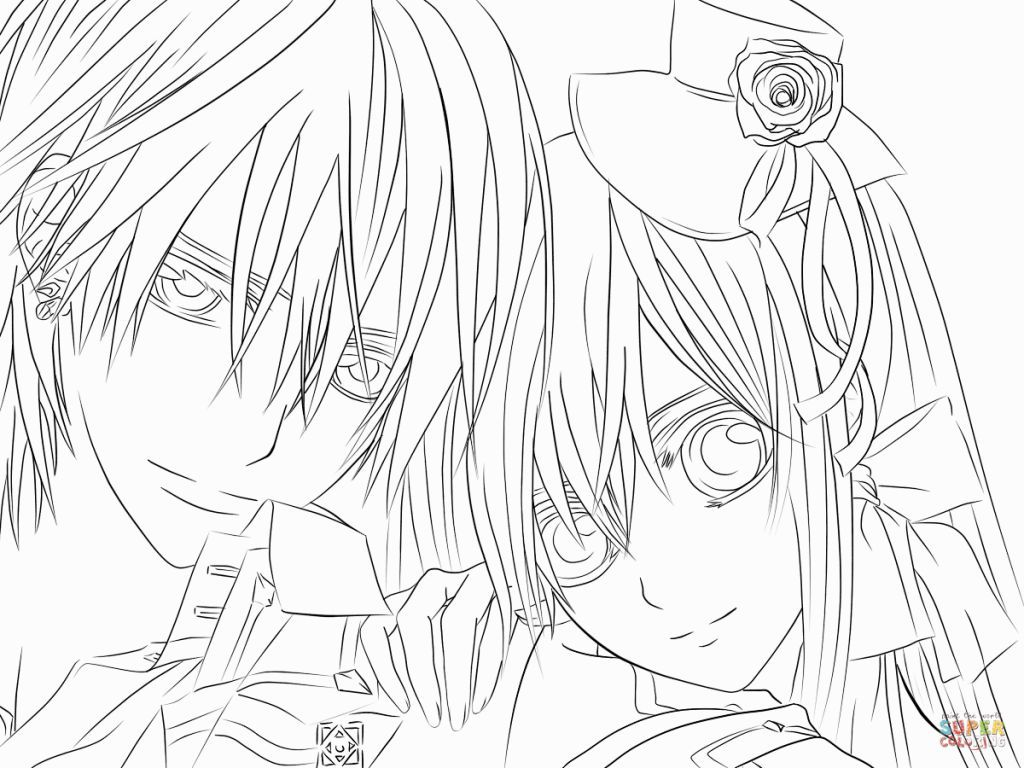 Vampire Knight Coloring Pages Vampire Knight Coloring Pages