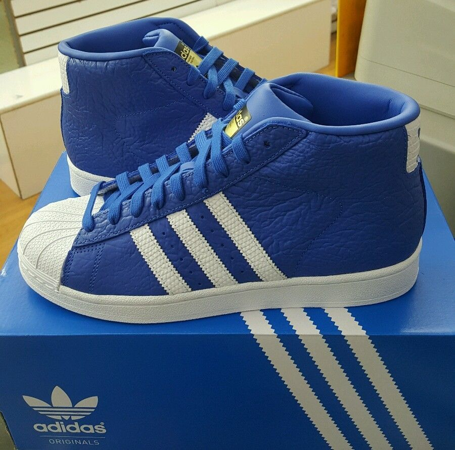 ADIDAS PRO MODEL ANIMAL BLUE WHITE GOLD S75067  895d8c4ff