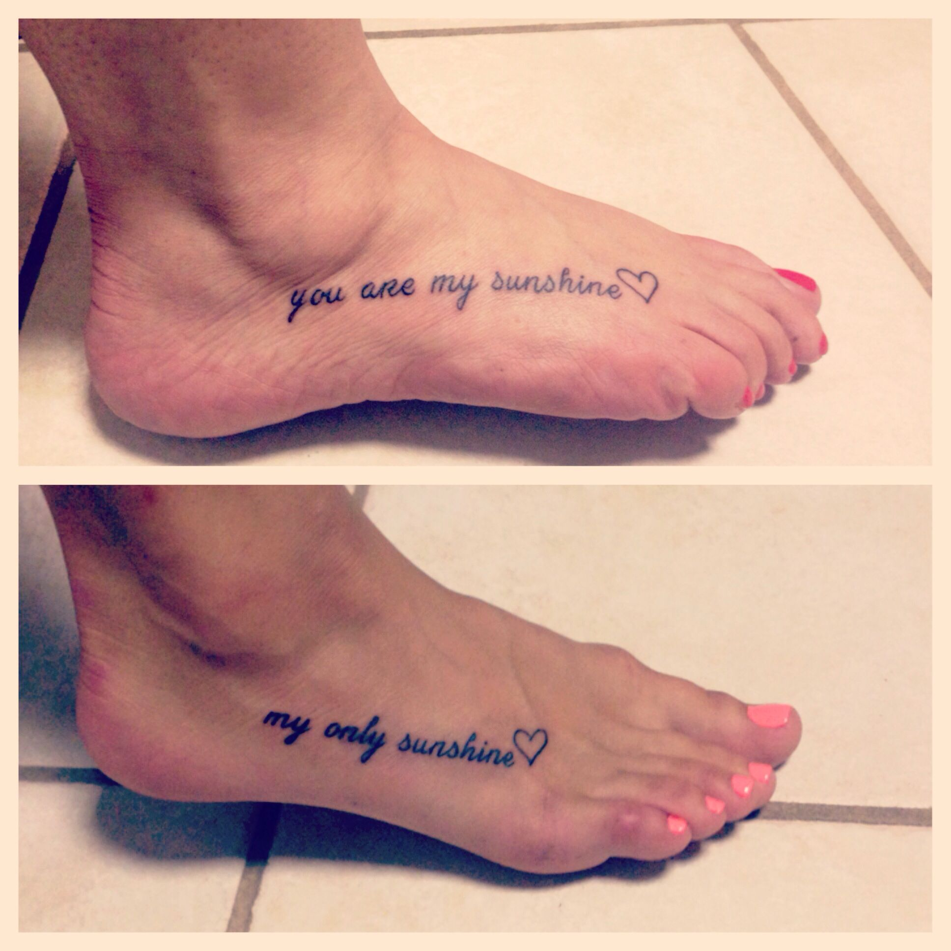 Mother And Daughter Tattoo You Are My Sunshine My Only Sunshine Tattoos For Daughters Tattoo You Tattoos
