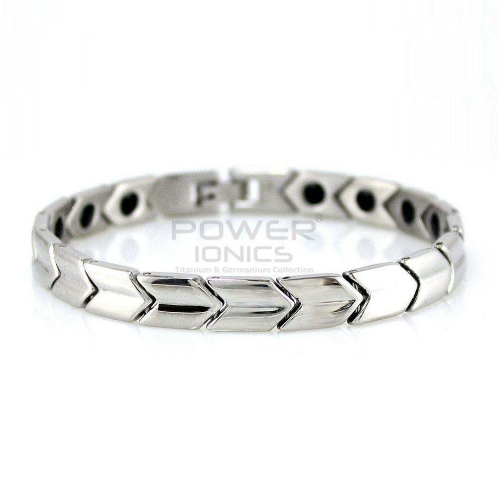 Power ionics titanium germanium magnetic bracelet balance body pt