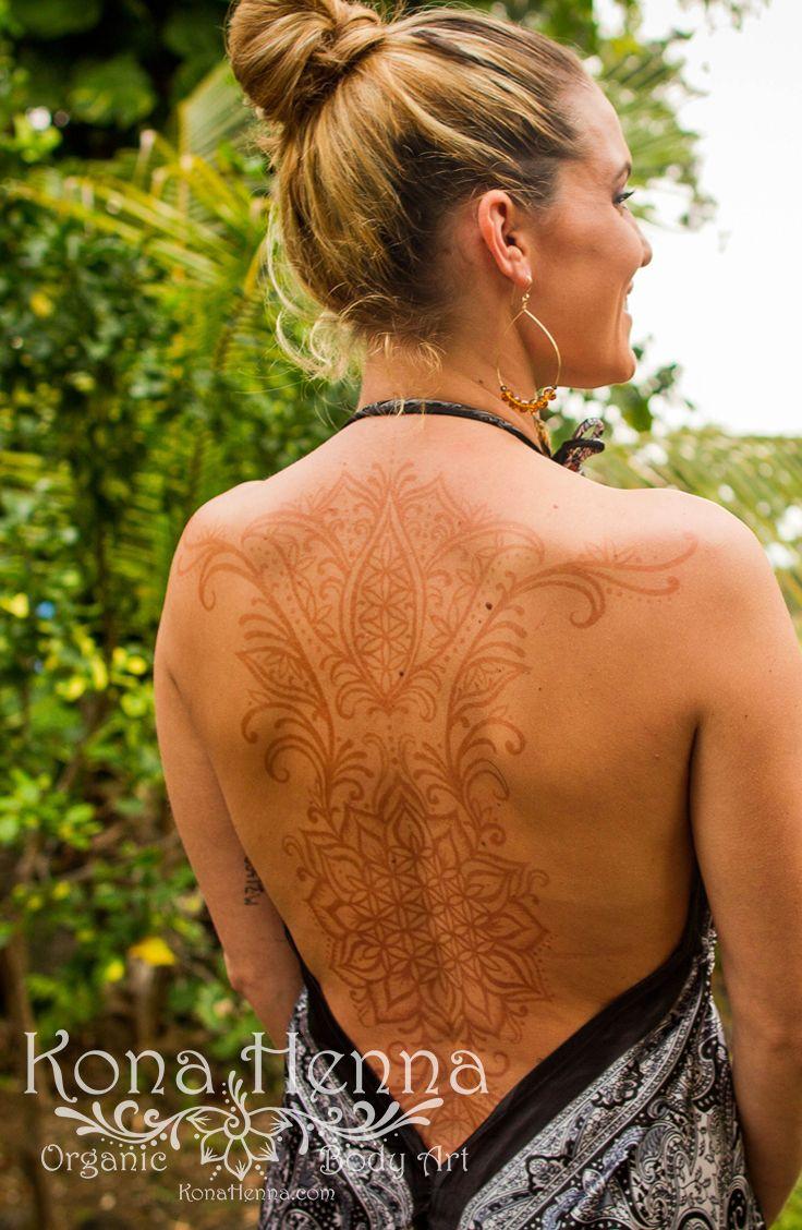 Harga Henna Tattoo Kit: Flower Of Life Back Piece. Organic Henna Products