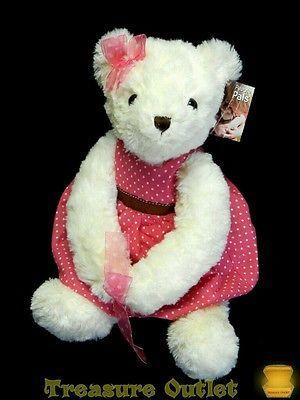 Aurora People Pals Stuffed Plush Sweetheart Teddy Bear Vase Hugger