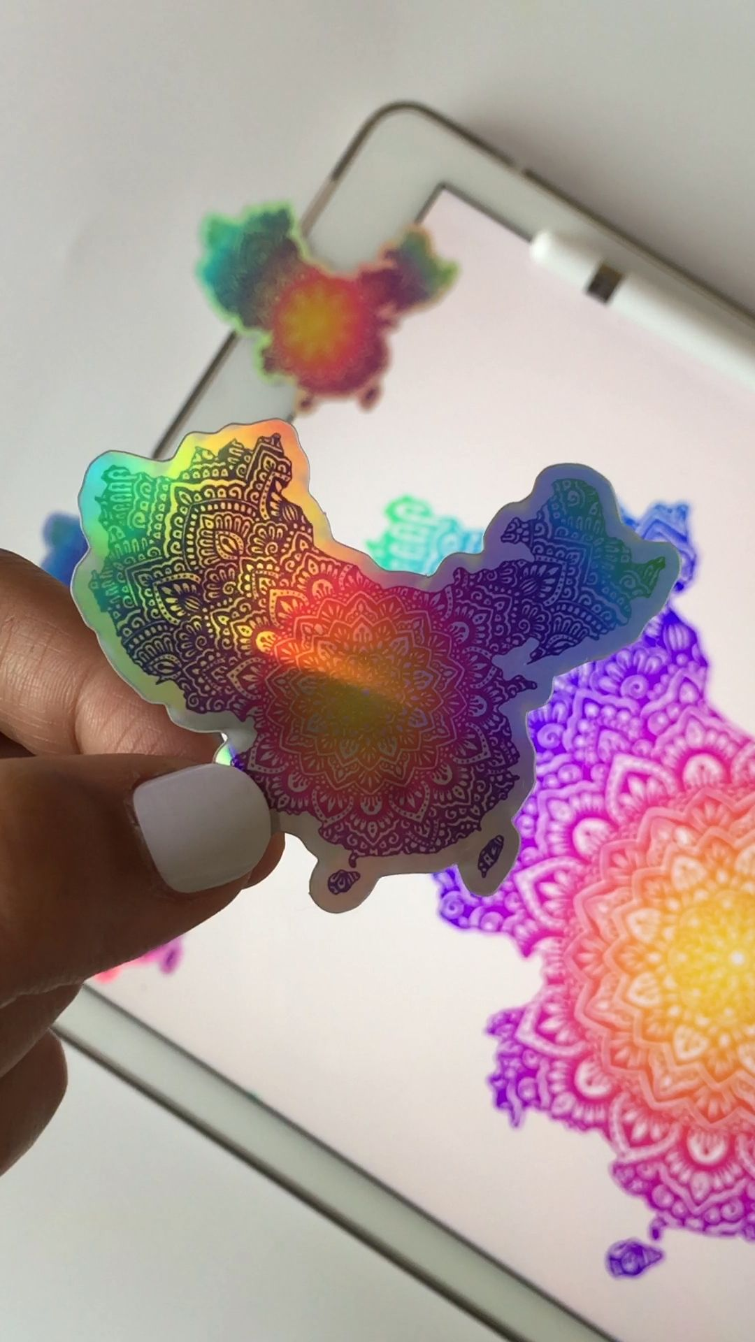 China map holographic stickers