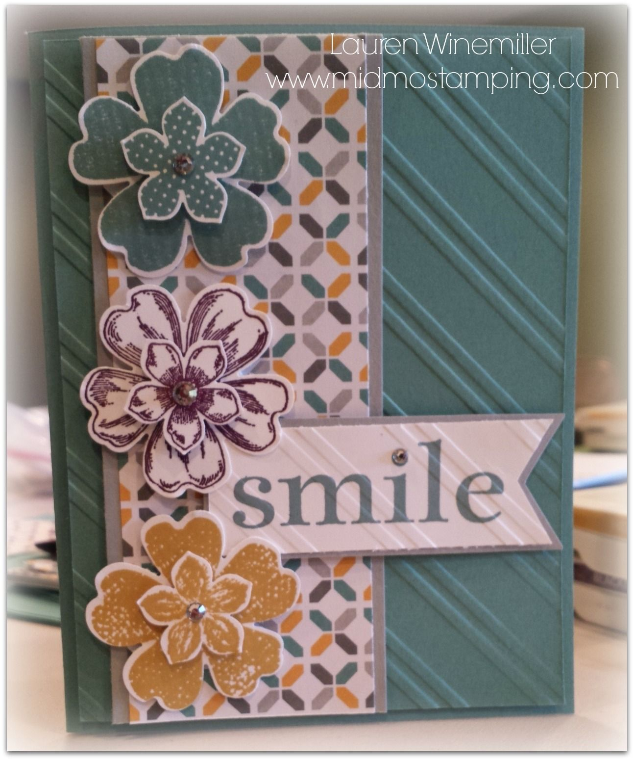 2014 In Colors Stampin Up: Stampin' Up! 2014-16 In Colors, Flower Shop, Petite Petals