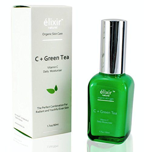 Elixir Naturel Vitamin C  Green Tea Daily Moisturizer for Face  Organic Paraben Free Anti Aging Formula  Best Vitamin C Hyaluronic Acid Cream for Treating Wrinkles Aging and Dark Spots -- Read more reviews of the product by visiting the link on the image.