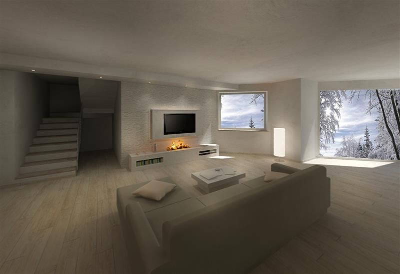 Rendering Soggiorno ~ Render camini moderni soggiorno