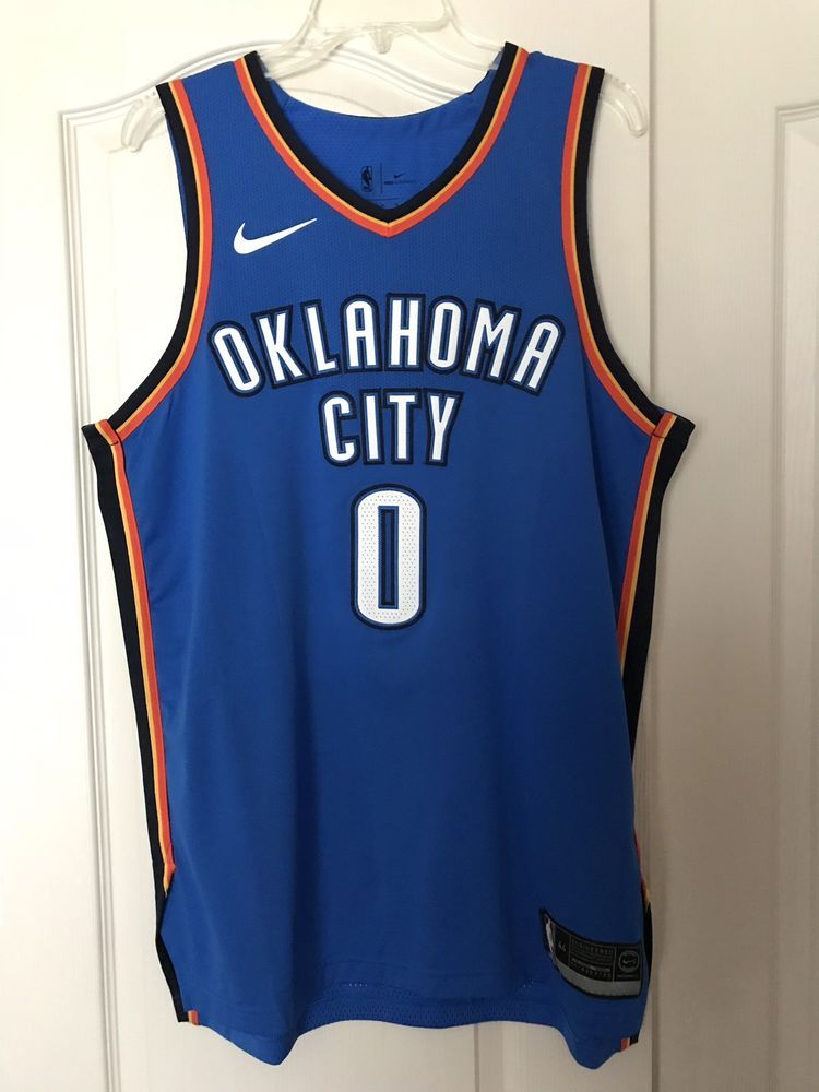 a0474b2075f Authentic Nike Russell Westbrook Jersey Size 44 Medium (eBay Link ...