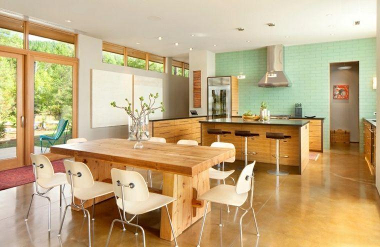 muebles de madera   Interiores para cocina   Pinterest   Cocina de ...