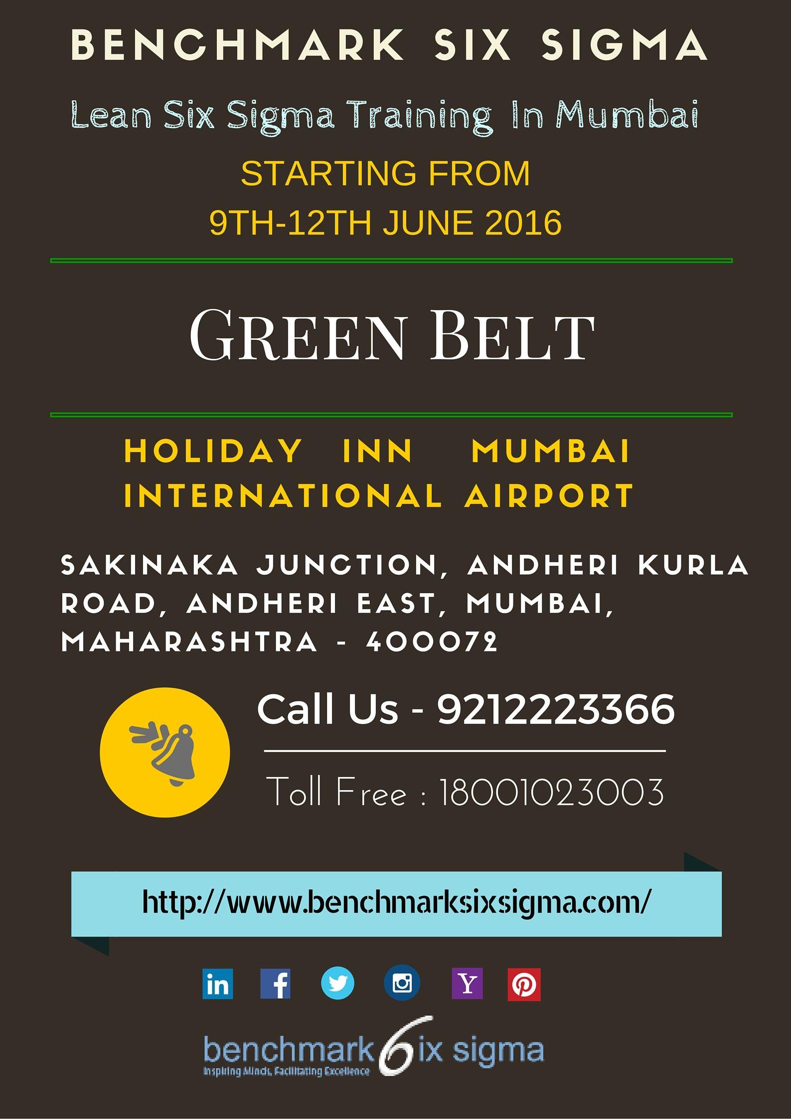 Announcing Next Lean Six Sigma Green Belt Program At Mumbai From 9th