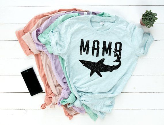f5d2bea380737 Mama Shark Shirt - Mommy Shark - Mom T-Shirt - Gifts For Mom - Gift For  Wife - Pregnancy Party - New