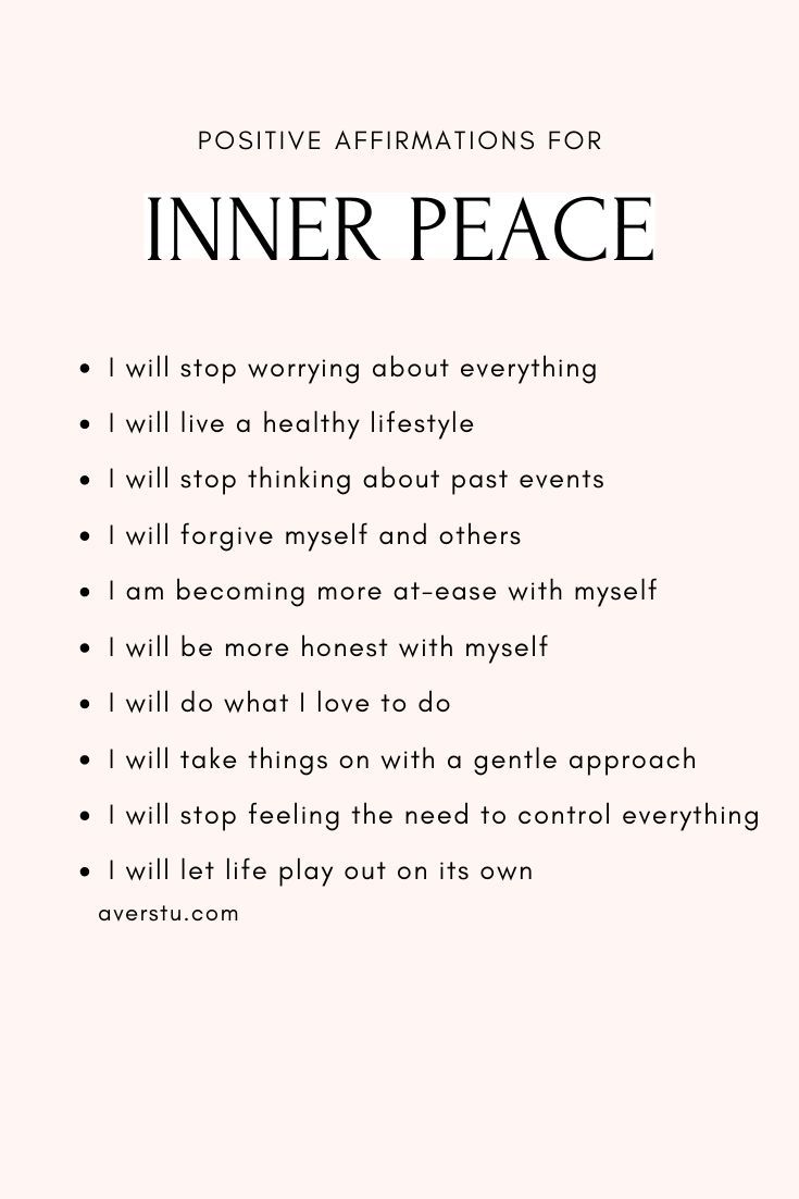 30 Bright Affirmations and Helpful Reminders For Positive Living in 2020 | Inner peace quotes, Affir