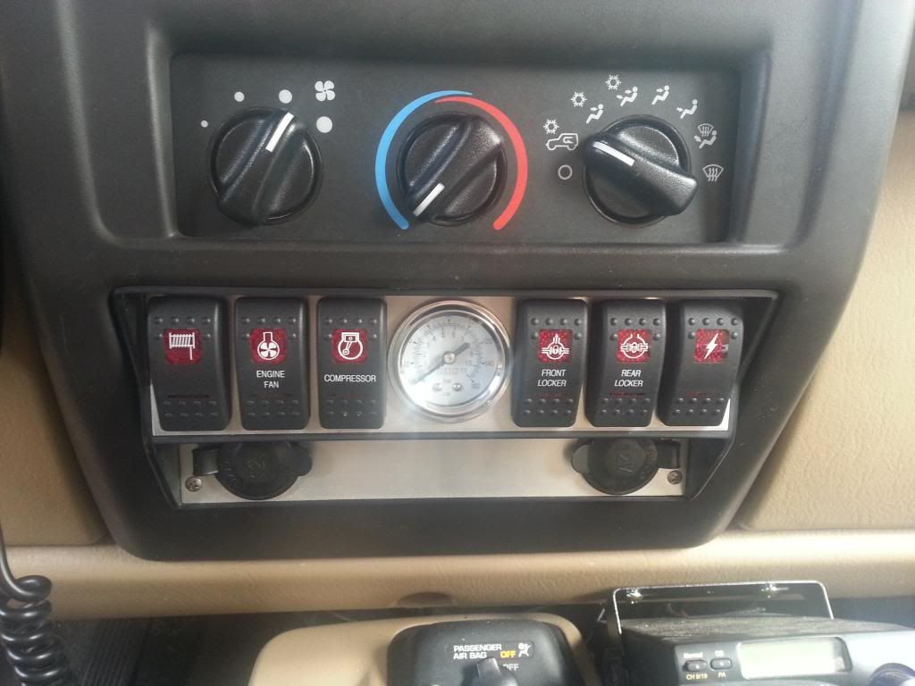 Jeep Tj Switch Panel Hard To Find T J Pinte Wiring 12v Led Christmas Lights Into Third Brake Light Jkownerscom More