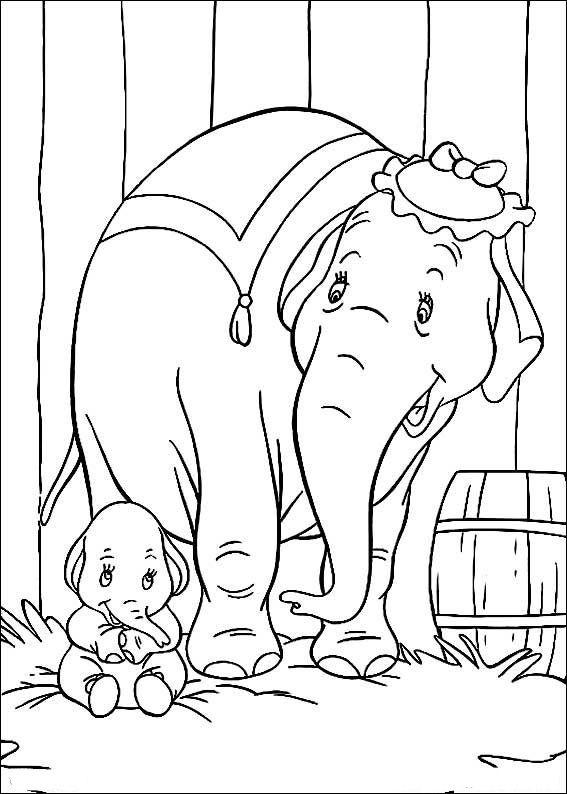Dibujos Para Colorear Dumbo 11 Paginas Para Colorear Disney Libro De Colores Dibujo De Dumbo